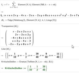 Lagrange-Verfahren Extrema mit Nebenbedingungen