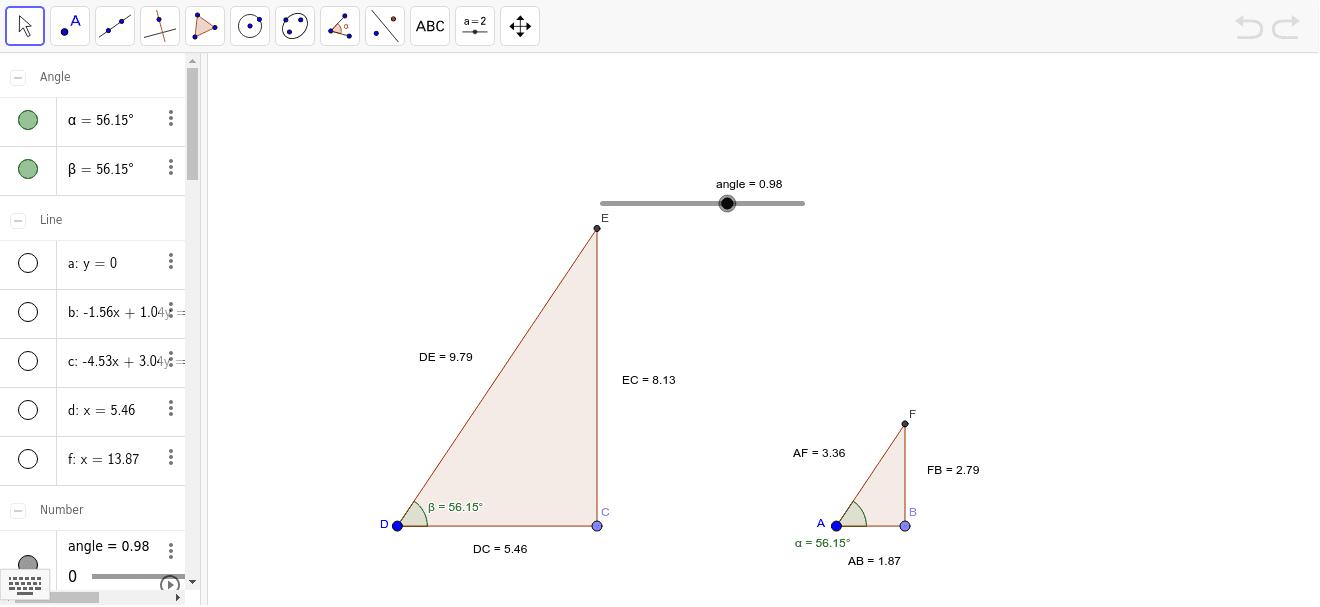 Completeu la taula amb les mesures dels costats, i calculeu les raons que s'indiquen
