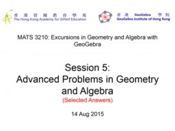 MATS3210 Session5: Selected Answers