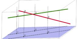 a)Ortogonalna proekcija na 2 pravi