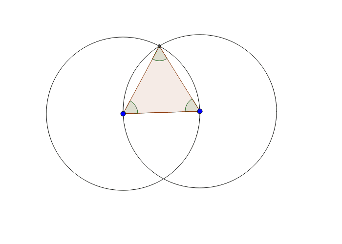 Explore the geometric properties of an equilateral triangle