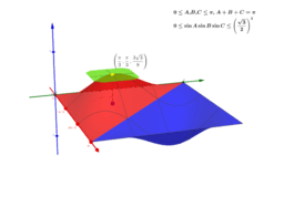 0 ≤ sinA sinB sinC ≤(√3/2)³