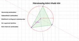 A háromszög köré irható kör