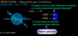 Ángulos opuestos por el vértice ( ejercicios )