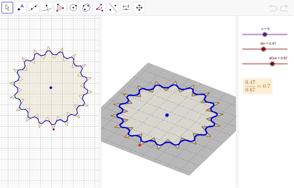 Inclou l'eina per dibuixar polígons estrellats (amb la resta de polígons) Premeu Enter per iniciar l'activitat