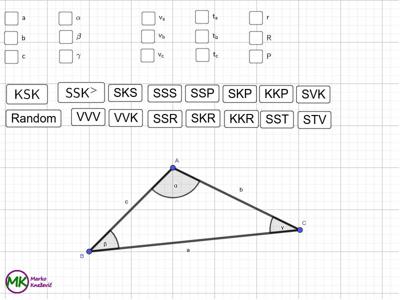 Odredi trokut Press Enter to start activity