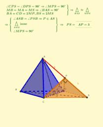 Distancia entre vértices de pirámides