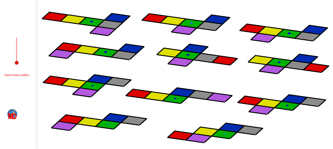 Challenge: Two patterns are identical. Can you find them? and draw the missing ones Press Enter to start activity