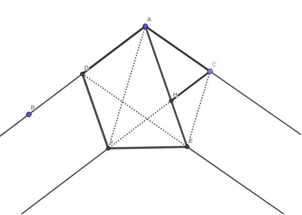 テープをこのように結ぶと正五角形を折ることができる。