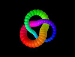 Rainbow torus knots animation