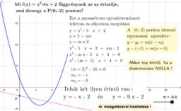 Érintő - parabola