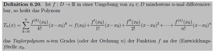 (Hinrichs, A.: Analysis 1, Vorlesungsnotizen, Wintersemester 2015/2016, Johannes Kepler Universität Linz)