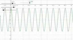 función seno. f(x)= a sin(b x - π) + c