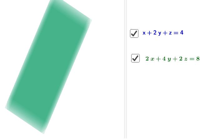 Penyelesaian Persamaan 2 persamaan dengan tiga pemboleh ubah  Press Enter to start activity