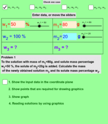 Mixture problems - addition of the solute