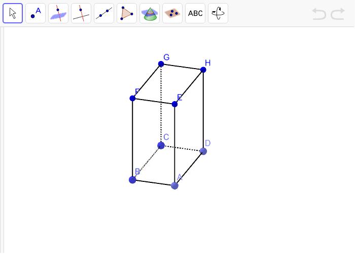 8. Istakni na kvadru tri mimoilazna pravca različitim bojama. Pritisnite Enter kako bi pokrenuli aktivnost