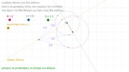 ριζικός άξονας δύο κύκλων-1