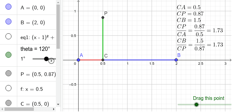 Drag the green point at the lower-right corner. Press Enter to start activity