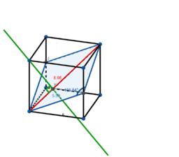 Rhombus in Cube