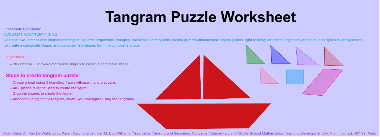 Tangram Puzzle Worksheet (Final) – GeoGebra