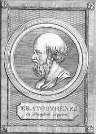 Eratosthes was een veelzijdig Grieks geleerde uit de 2e eeuw v.C. Hij was o.a. veertig jaar lang hoofdbibliothecaris van de bibliotheek van Alexandrië. Geografen kennen hem omdat hij de omtrek van de aarde berekende. Wiskundigen denken dan weer eerder aan 'de zeef van Erastothenes'