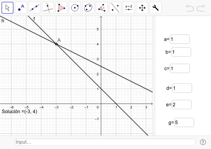 Herramienta sistema de ecuaciones lineales Presiona Intro para comenzar la actividad