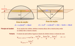 Volume da esfera pelo Princípio de Cavalieri