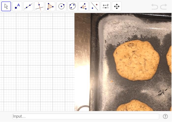 ¿ Puedes aproximarte al número Pi, mediante estas galletas y la manipulación de algunas herramientas? ¿Cómo? Presiona Intro para comenzar la actividad