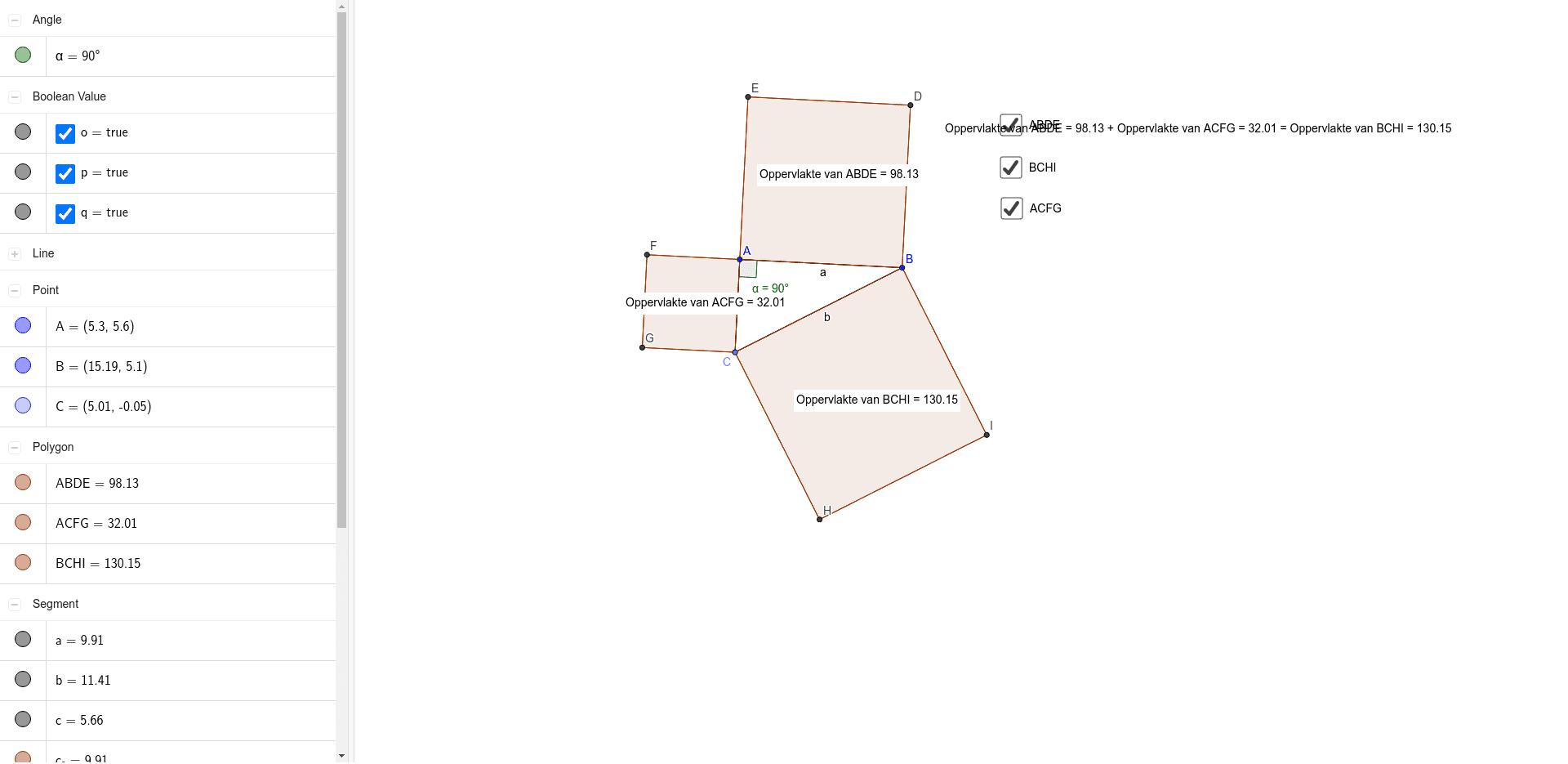 Stelling van Pythagoras Klik op Enter om de activiteit te starten
