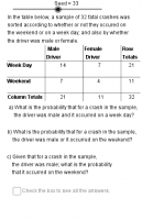 Table Probability: General
