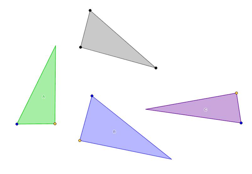 Congruência de triângulos Press Enter to start activity