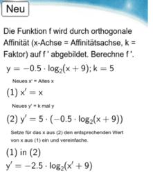 10I - Logaritmus - Orthogonale Affinität