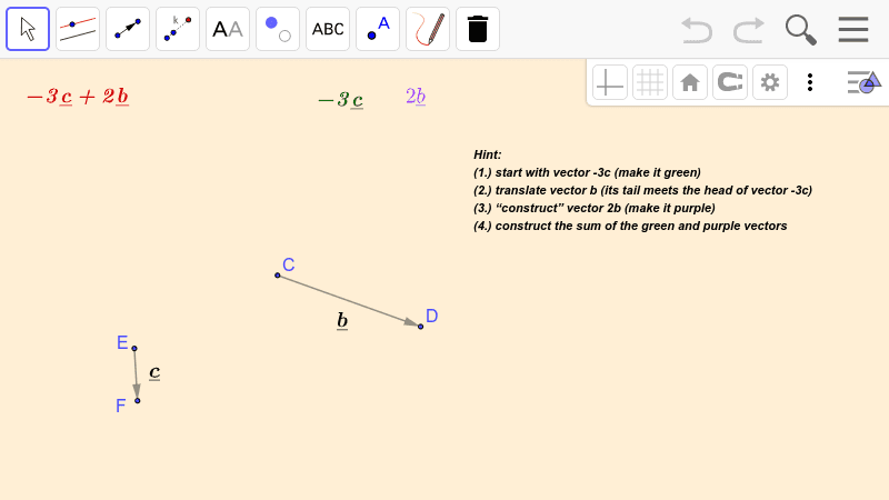 PRACTICE 4.  Operations with vectors  Press Enter to start activity