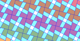 Pythagorean Theorem by Tessellation # 85 Tiling