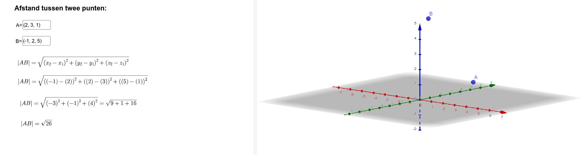 Afstand tussen twee punten Klik op Enter om de activiteit te starten