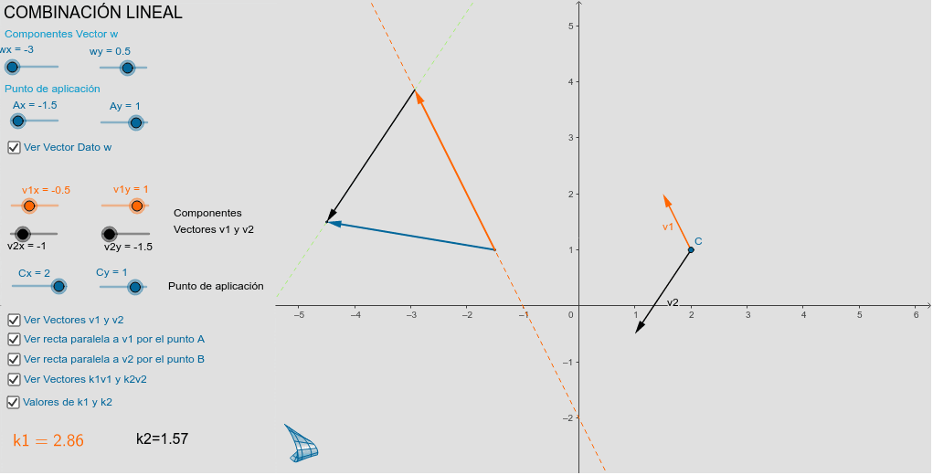 Combinación Lineal de dos vectores