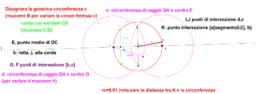 cr-determinare graficamente centro circonferenza con raggio non noto