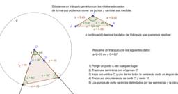 Resolución de un triángulo
