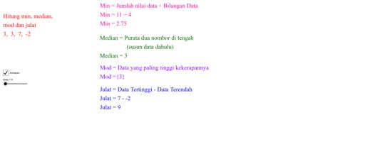 Mencari Min  Median  Mod Dan Julat  U2013 Geogebra