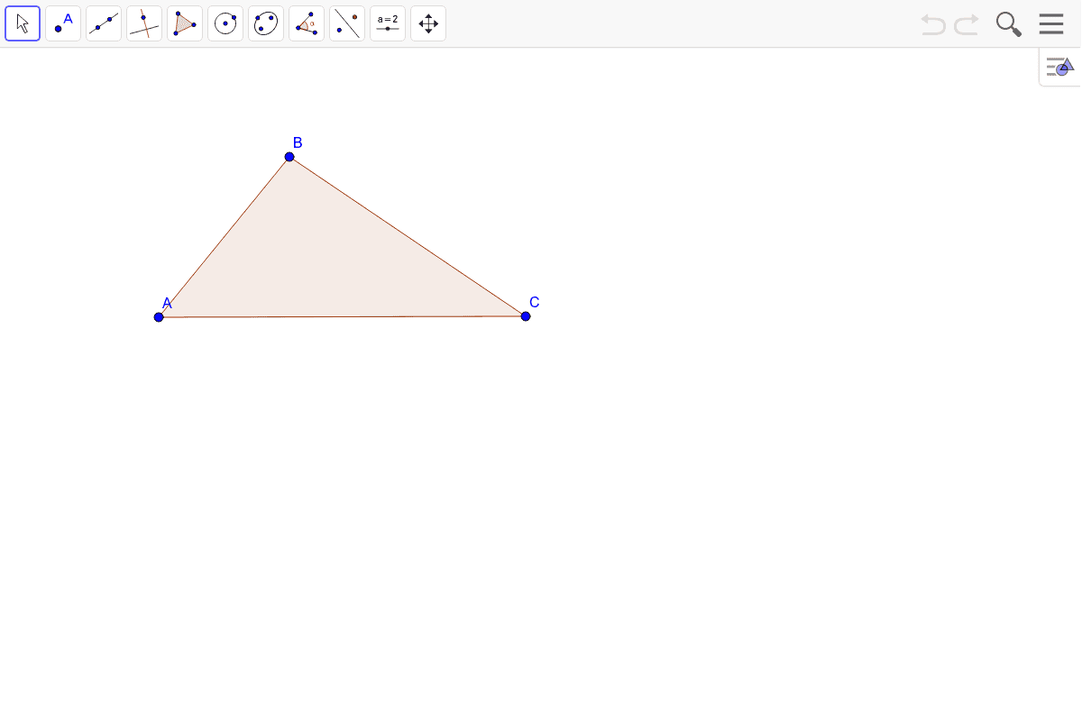 3) Construct the incenter of the triangle.