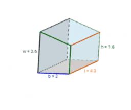 Volumen und Oberfläche von Prismen ohne Kreise