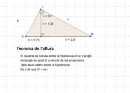 Teorema de l'altura i del catet.