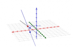 Point of intersection and angle between 2 lines