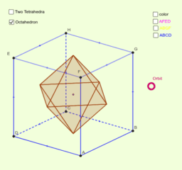 Regular Polyhedra - Two Projections