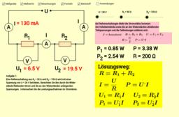 Reihenschaltung von Widerständen in Stromkreisen