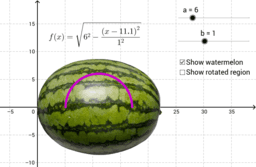 Volume of a watermelon