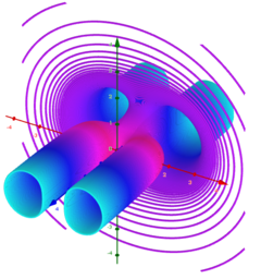 Implicit surfaces as a network of implicit curves