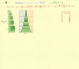 Suma de los cuadrados de los primeros n números naturales