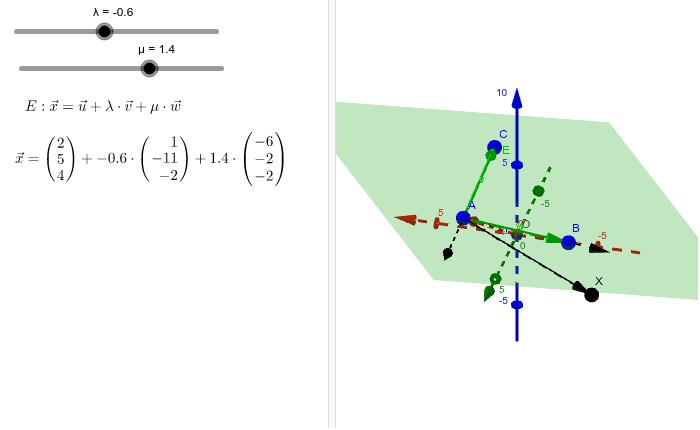 Ebene in Parameterform Drücke die Eingabetaste um die Aktivität zu starten