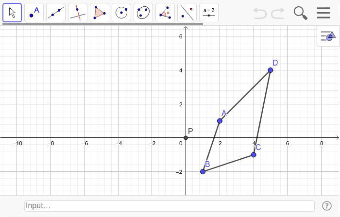 Reflect the figure across the line y = x Press Enter to start activity